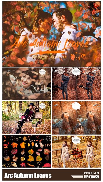 دانلود 30 کلیپ آرت برگ های پاییزی واقعی - 30 Arc Autumn Leaves