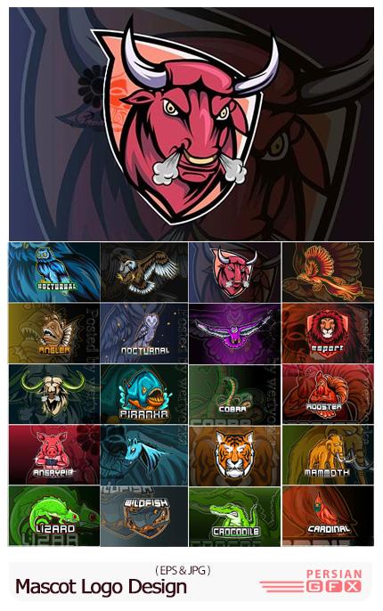 دانلود وکتور آرم و لوگوی حیوانات برای باشگاه و ورزش - Mascot Logo Design