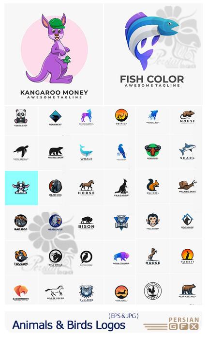 دانلود آرم و لوگوی کارتونی حیوانات و پرندگان - Animals And Birds Logos