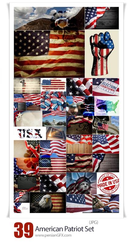 دانلود 39 عکس با کیفیت پرچم آمریکا یا USA با استایل های مختلف - American Patriot Set