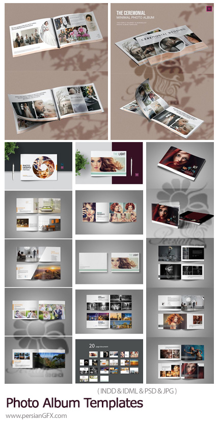 دانلود 4 قالب ایندیزاین آلبوم عکس و پورتفولیو - Photo Album Templates