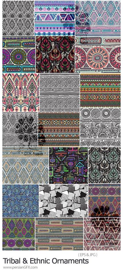 دانلود پترن وکتور با طرح های سنتی و تزئینی - Tribal And Ethnic Ornament