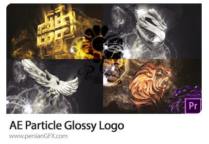 دانلود قالب نمایش لوگو با پارتیکل های براق در افترافکت و پریمیر - Particle Glossy Logo