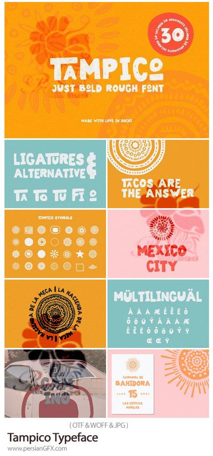 دانلود فونت انگلیسی تامپیکو به همراه سمبل های متنوع - Tampico Typeface