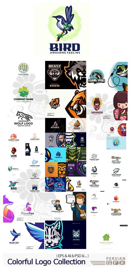 دانلود وکتور آرم و لوگوهای رنگارنگ متنوع - Colorful Logo Collection