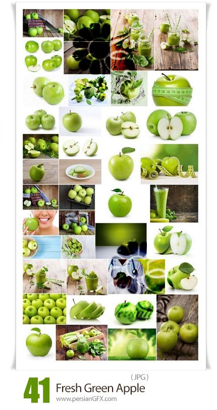 دانلود 41 عکس با کیفیت سیب سبز تازه - Fresh Green Apple