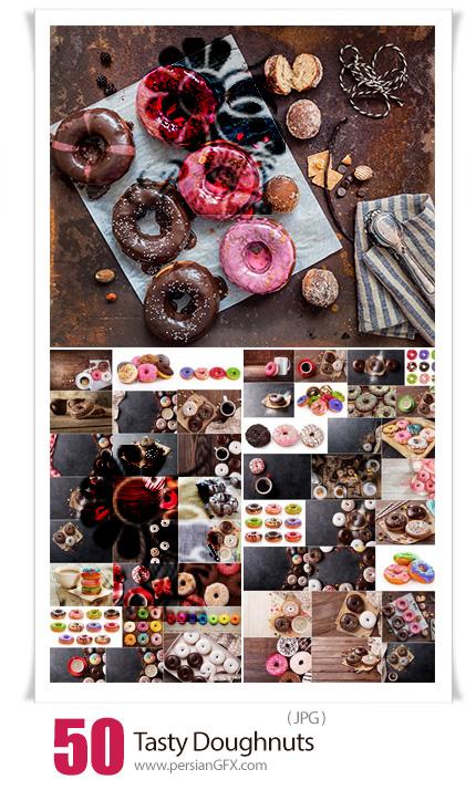 دانلود 50 عکس با کیفیت دونات های خوشمزه با طعم های شکلاتی، کاراملی، میوه ای و ... - Tasty Doughnuts
