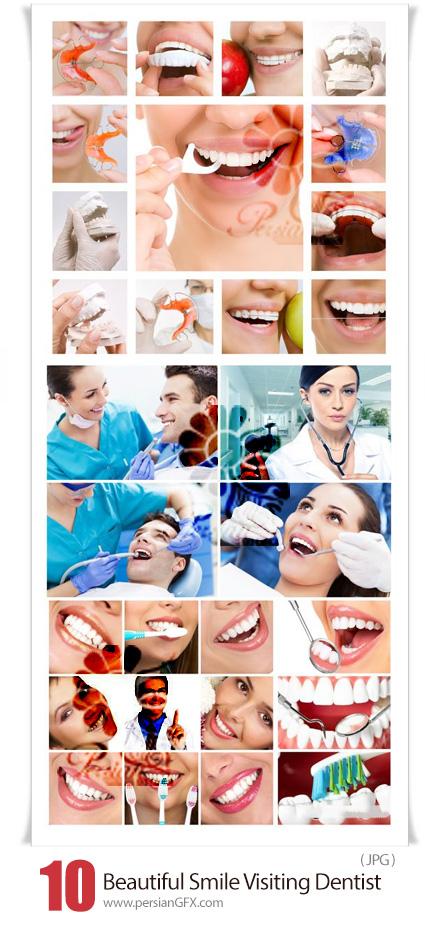 دانلود عکس با کیفیت دندان های زیبا و دندانپزشکی - Beautiful Smile Visiting Dentist