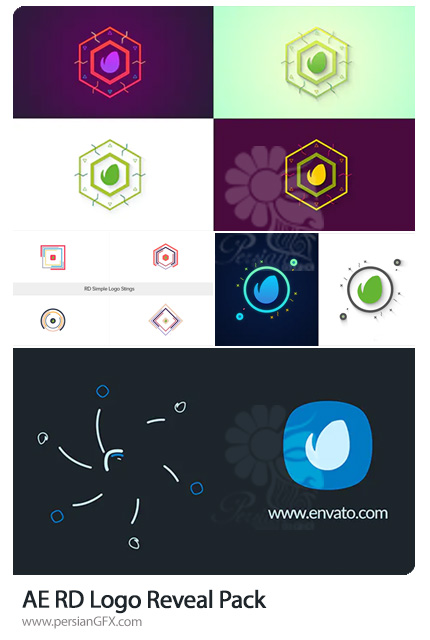 دانلود 4 پروژه افترافکت نمایش لوگو با اشکال فلت - RD Logo Reveal