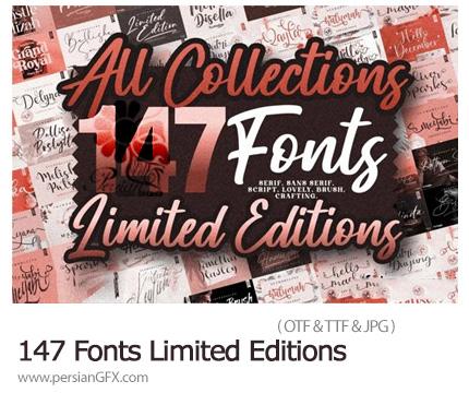 دانلود 147 فونت انگلیسی با طرح های مختلف - 147 Fonts All Collections Limited Editions