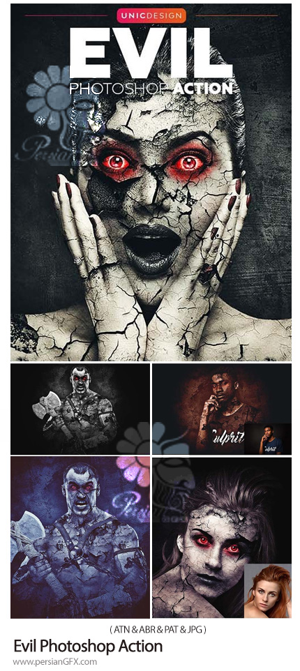 دانلود اکشن فتوشاپ ساخت تصاویر وحشتناک - Evil Photoshop Action