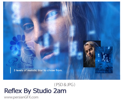 دانلود قالب لایه باز ساخت تصاویر ترکیبی با افکت رفلکس - Reflex By Studio 2am