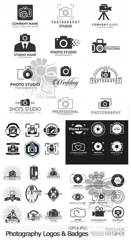 دانلود 48 وکتور لوگو و نشان عکاسی - Photography Logos And Badges