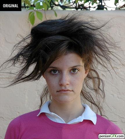 خم کردن موها با استفاده از فیلتر در فتوشاپ