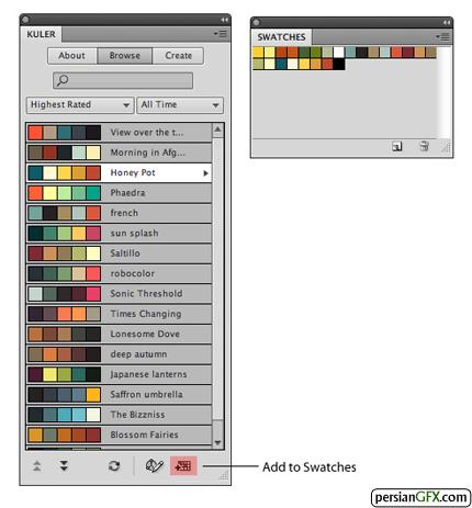 کار کردن با Color Schemes در فتوشاپ