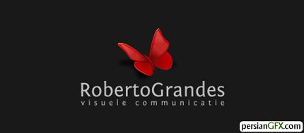 30 طرح زیبا از لوگوی پروانه   PersianGFX - پرشین جی اف ایکسOn Second Thought · Butterfly Logo