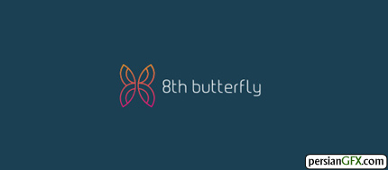 30 طرح زیبا از لوگوی پروانه   PersianGFX - پرشین جی اف ایکس8th Butterfly