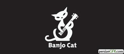 40 طراحی الهام بخش از لوگوی گربه | PersianGFX - پرشین جی اف ایکسطراح: randyheil این لوگو برای کمپانی محصولات ویدئویی مناسب است.