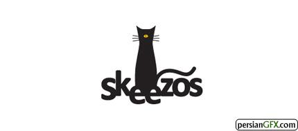 40 طراحی الهام بخش از لوگوی گربه   PersianGFX - پرشین جی اف ایکساین لوگو برای یک گروه موسیقی پاپ با نام Skeezos طراحی شده است.