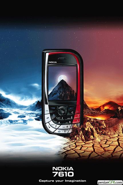 40 افکت دستکاری عکس در عکس های تبلیغاتی موبایل | PersianGFX ...Nokia 7610