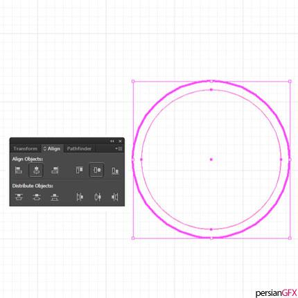 آموزش طراحی لوگوی جغد کارتونی در ایلوستریتور با استفاده از شبکه ...برای یک چشم جغد، یک دایره به ابعاد 45 px 45 x رسم کنید. این بار چیدمان آن را در حالت Vertical distribute center قرار داده و چشم را مطابق تصویر ...