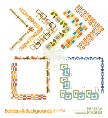 حاشیه ها و پس زمینه های فانتزی شماره یک - Borders & Background 01