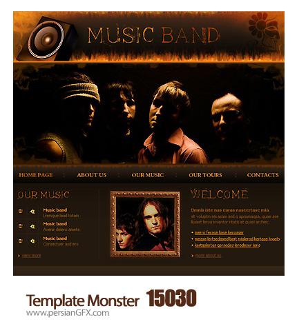 قالب آماده وب سایت موزیک - Template Monster 15030