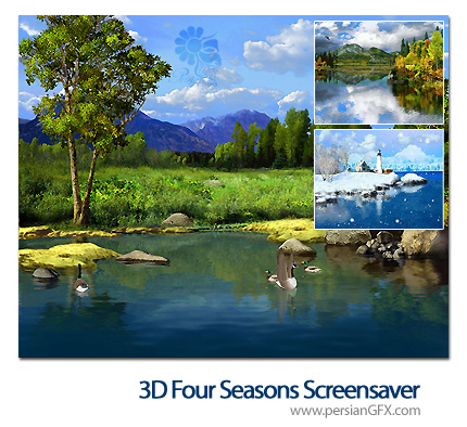 تغییر فصل ها با مناظر زیبا در دسکتاپ - 3D Four Seasons Screensaver