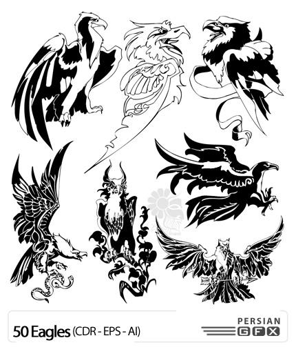 بیش از 50 نمونه از تصاویر وکتور از عقاب - Eagles Vector