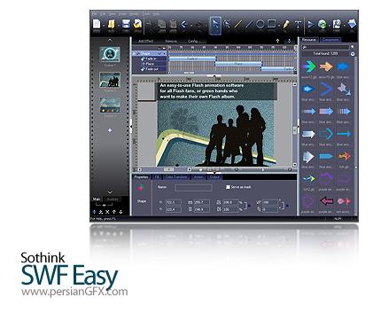 دانلود نرم افزار ساخت آسان انیمیشن های فلش - Sothink SWF Easy 6.4 Build 633