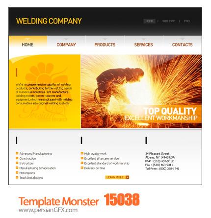قالب آماده طراحی سایت سازمان یا شرکت - Template Monster 15038