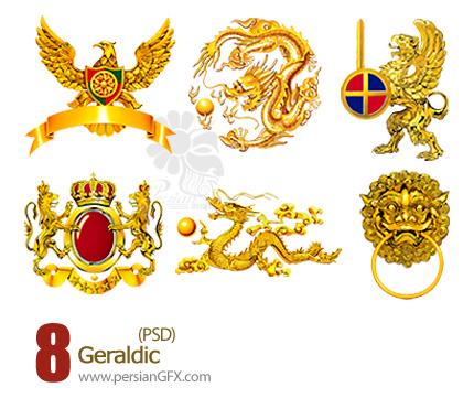 مجموعه تصاویر نشانه های قدیمی - Geraldic PSD
