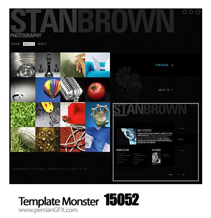 یک نمونه قالب آماده وب سایت گالری عکس - Template Monster 15052