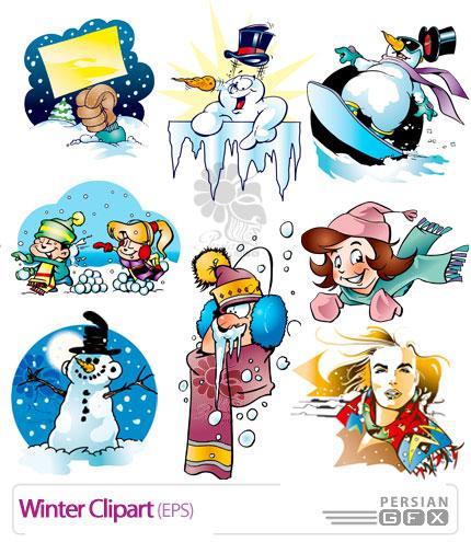 تصاویر زیبای وکتور از کلیپ آرت های زمستان - Vector Winter Clipart