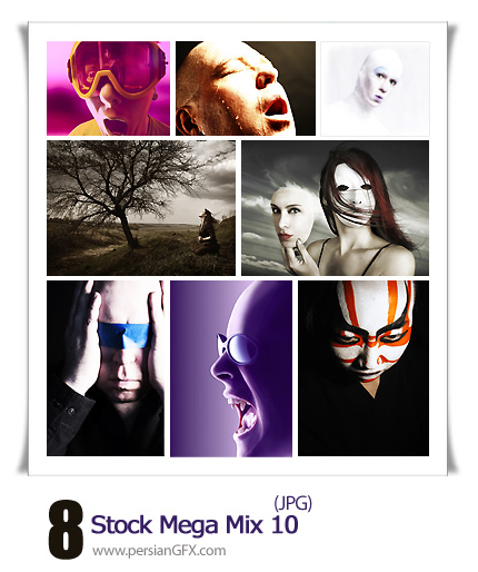 مجموعه تصاویر جذاب، صورت مرد و زن شماره ده - Stock Mega Mix 10