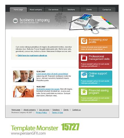 یک نمونه قالب وب سایت تجاری - Template Monster 15727