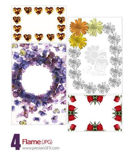 مجموعه قاب عکس ها و حاشیه های گل و آتش - Flame Frame