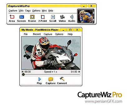 تهیه تصویر از محیط ویندوز با Capture Wiz Pro 4.30