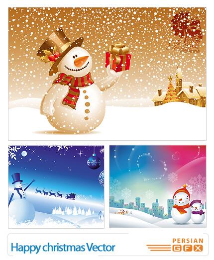 مجموعه وکتور های کریسمس - Happy Christmas