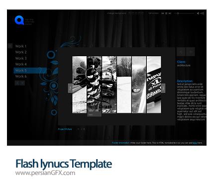 نمونه آماده قالب وب سایت هنری فلش - Flash Lynucs Template