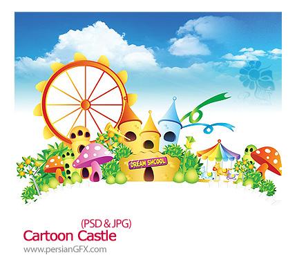 یک قالب آماده از قلعه کارتونی - Cartoon Castle
