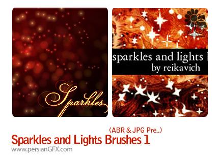 براش های نور و درخشش شماره یک - Sparkles and Lights Brushes 01