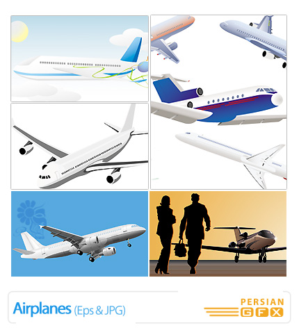 وکتور هواپیما - Airplanes