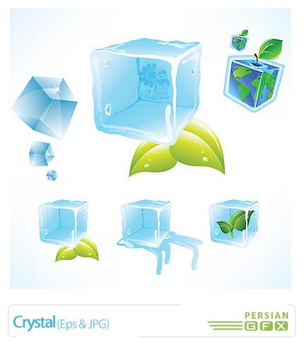 دانلود وکتور کریستال، قالب یخ - Crystal
