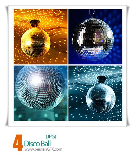 دانلود توپ نقره ای و طلایی، گوی طلایی - Disco Ball