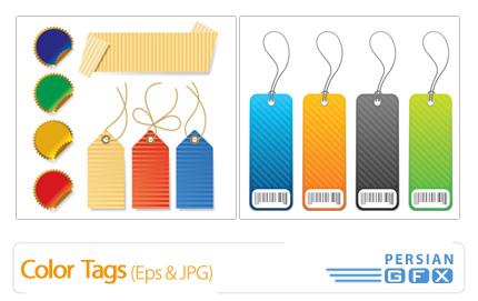دانلود وکتور برچسب های رنگی - Color Tags