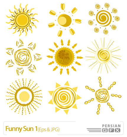 دانلود وکتور فانتزی خورشید، طلایی - Funny Sun 01   PersianGFX ...دانلود وکتور فانتزی خورشید، طلایی - Funny Sun 01