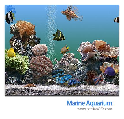 اسکرین سیور آکواریوم زیبا با ماهی های رنگارنگ Marine Aquarium 3.5.9