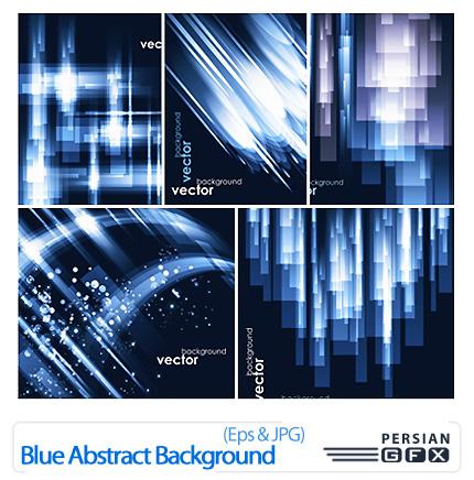 دانلود وکتور بک گراند انتزاعی آبی رنگ - Blue Abstract Background