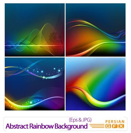 دانلود وکتور بک گراند انتزاعی و رنگی - Abstract Rainbow Background